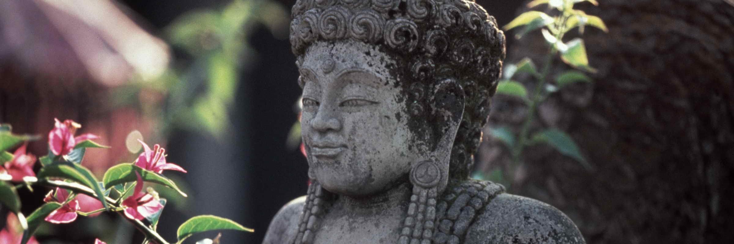 Tempelfigur auf Bali bei einer Indonesien Reise