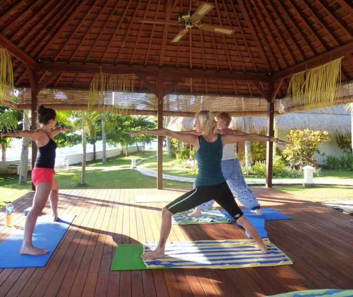 Im Siddhartha Ocean Front Resort & Spa findet mehrmals wöchentlich freier Yoga Unterricht statt.