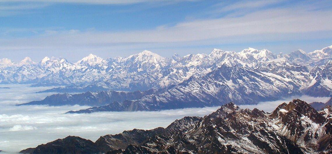 Ein Anblick den es zu bewahren gilt, die Himalaya Bergkette in Nepal