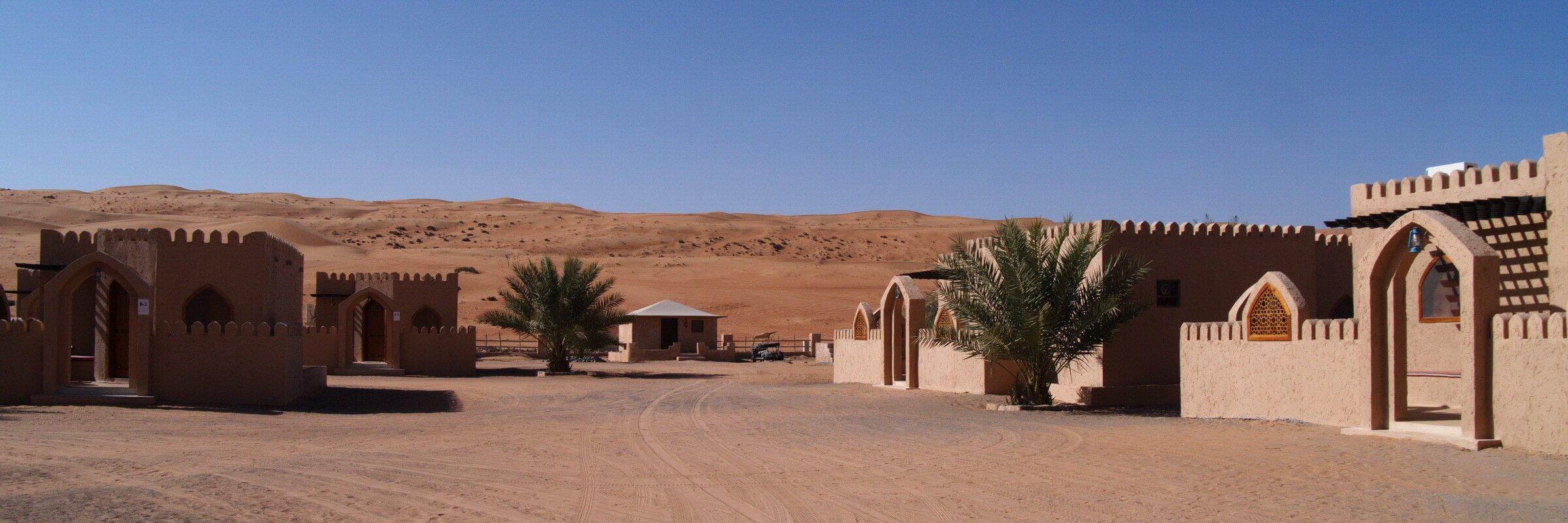 Das Arabian Oryx Camp ist bei Bidiya idyllisch zwischen Dünen gelegen und bietet einen spannenden Rückzugsort von der Hektik der Großstadt.