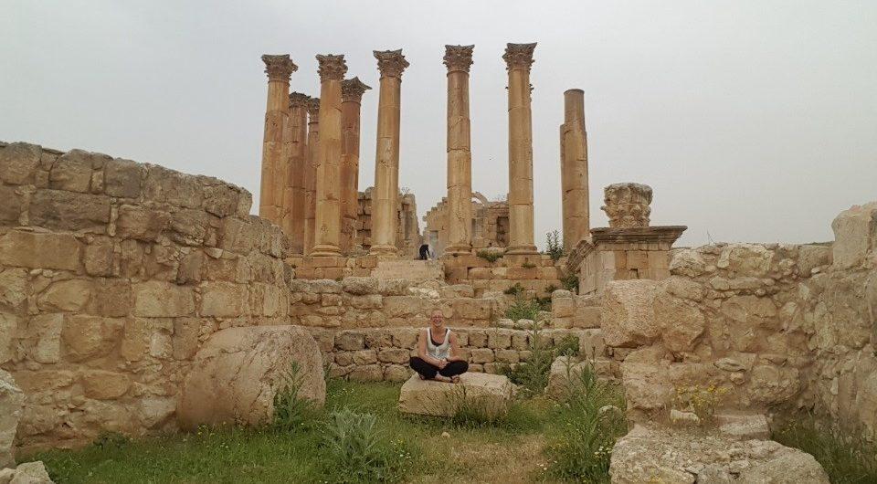 Ruinen des Artemis Tempel in Jordanien