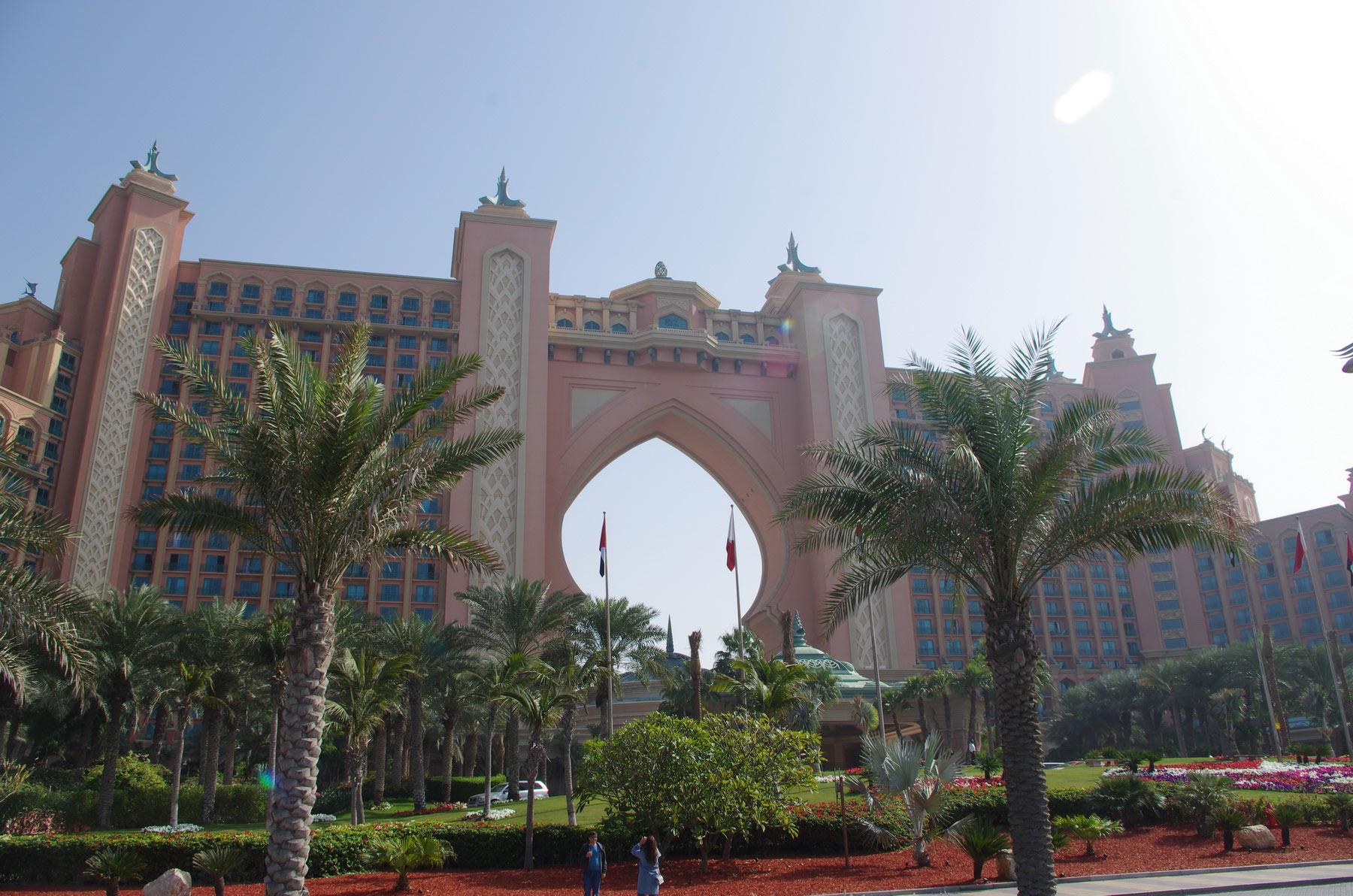 Das Hotel Atlantis The Palm befindet sich an der Spitze der künstlich erschaffenen Palmeninseln Palm Jumeirah.