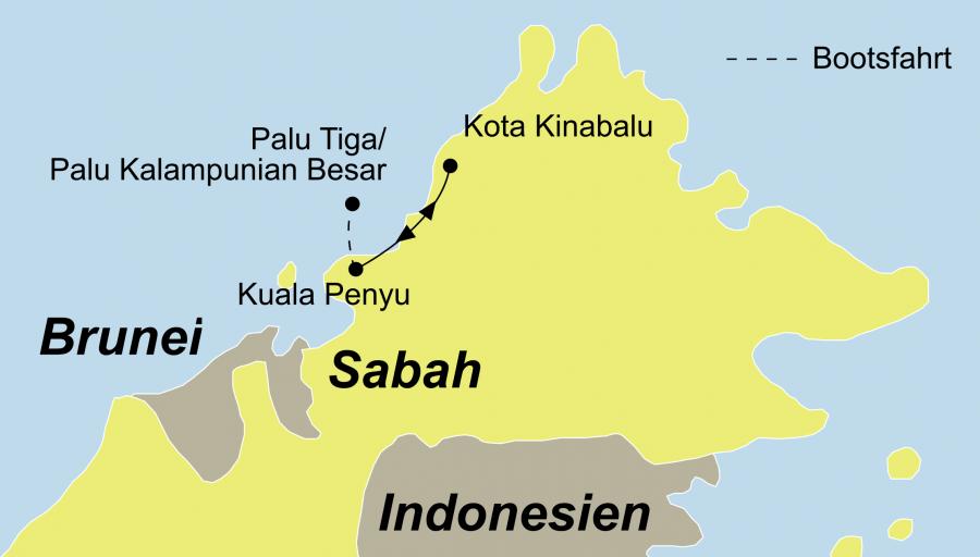 Die Survivor Insel Pulau Tiga Reise bringt Ihnen die Inseln des Bundesstaates Sabah in Malaysia näher