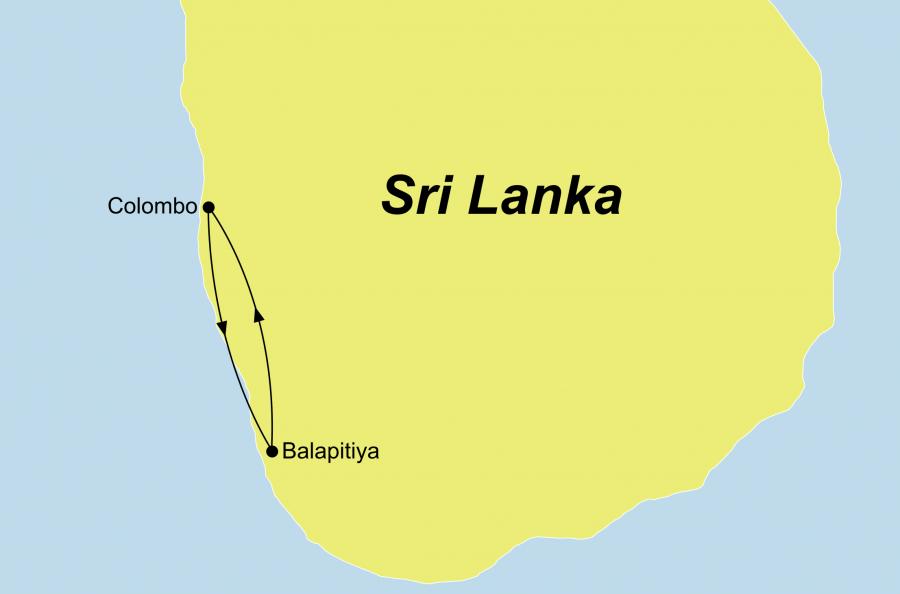 Ihre Wellness und Entspannung Reise auf Sri Lanka führt Sie nach Balapitiya