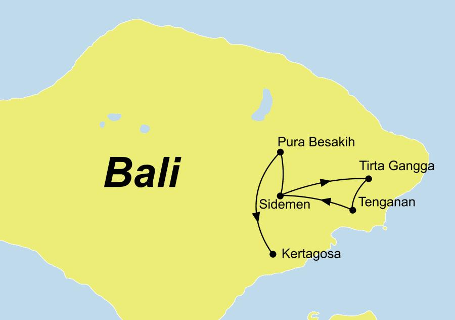 Die Natur pur auf Bali Rundreise führt von Sidemen über Tenganan nach Kertagosa
