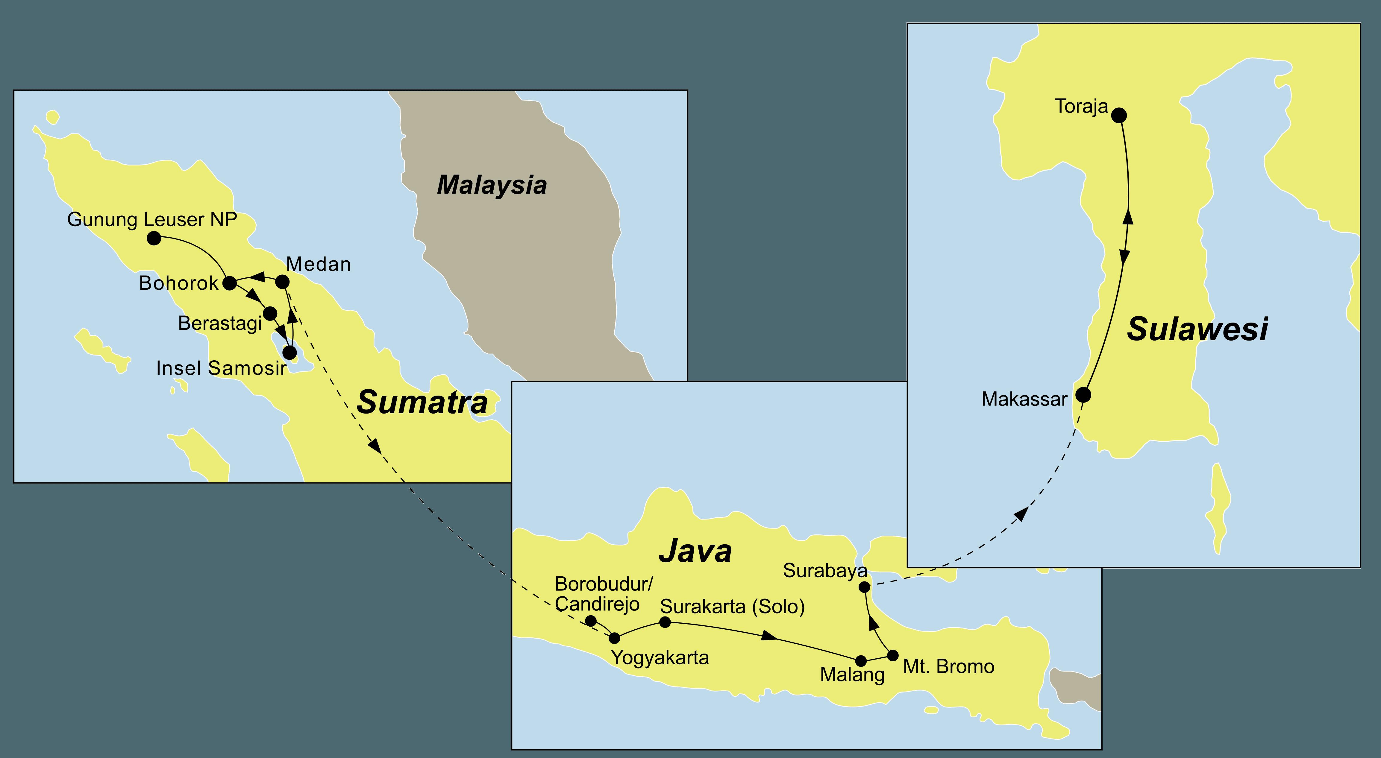 Indonesien Inselhopping – Schätze Indonesien Rundreise