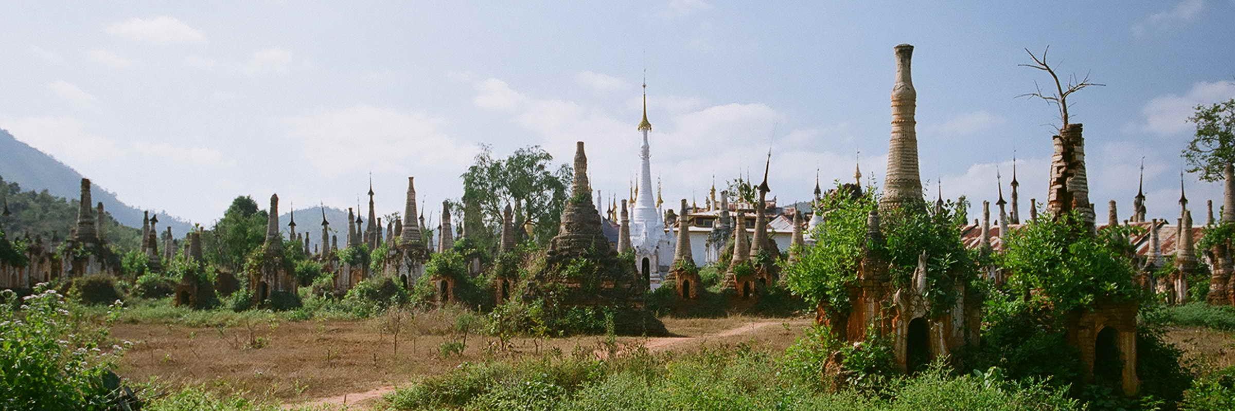 Die Ruinen von 1.065 Pagoden nahe dem Dorf Indein.