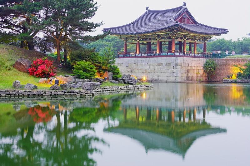 Der Anapji-Teich im südkoreanischen Gyeongju war früher Teil einer Palastanlage.