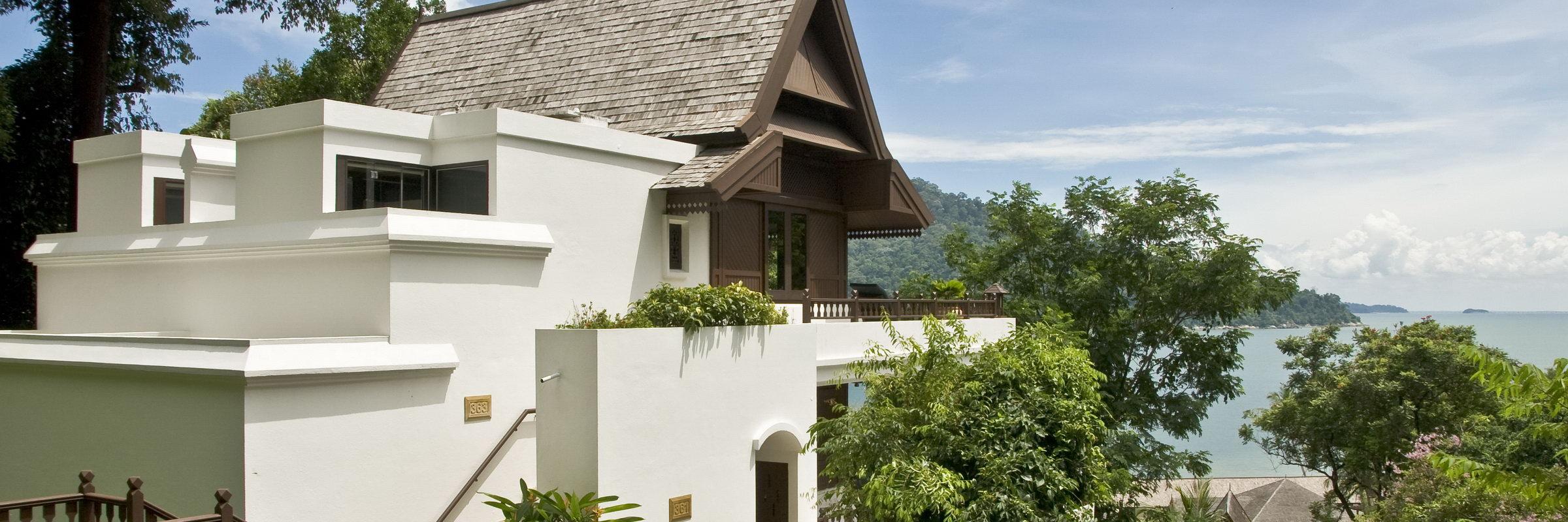 Außenansicht einer Hill Villa im Pangkor Laut Resort