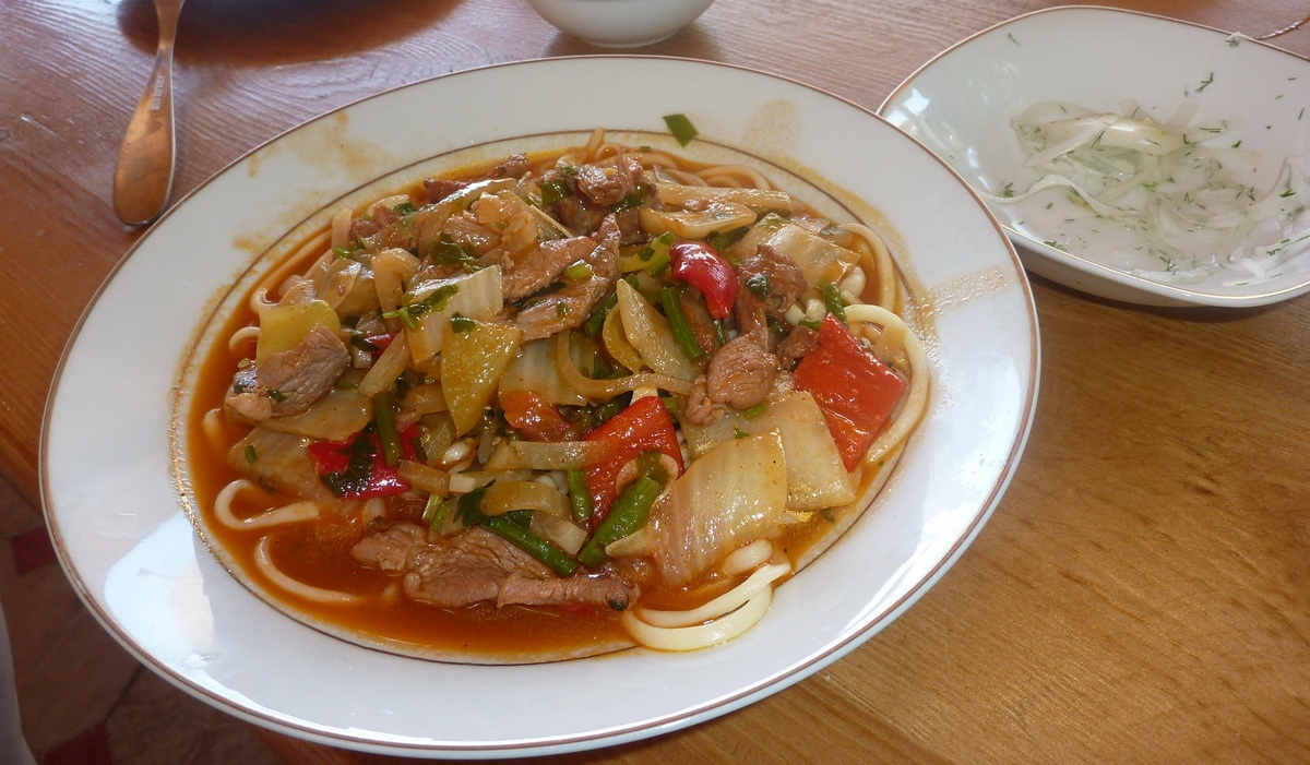 Hauptgericht Lagman in Usbekistan