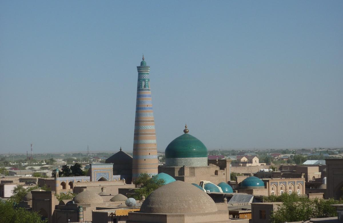 Blick Islam Khodja Minarett Chiwa