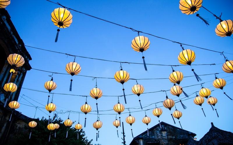 Laternen in Hoi, das Markenzeichen der Stadt