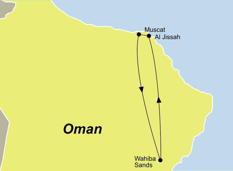 Diese Reise verbindet die Vielseitigkeit des Omas hervorragend, sehen Sie die Wüste, die große Mosche und gehen Sie Tauchen an der Küste vom Oman