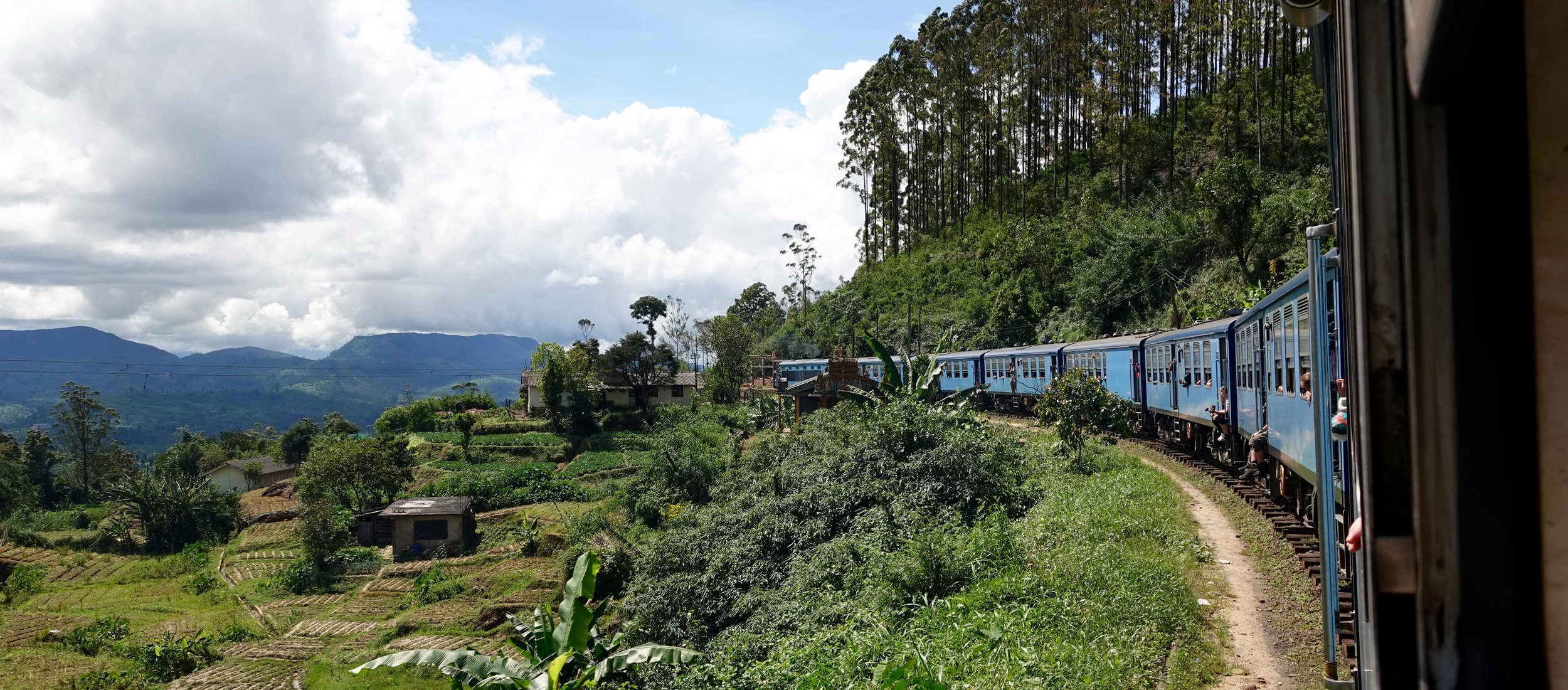 Ein muss im Sri Lanka Urlaub: eine Zugfahrt durch das Hochland