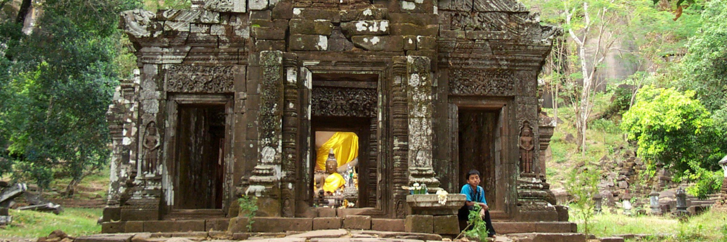 Der Tempel Wat Phou ist das bedeutendste Relikt der Khmer in Laos und zählt zum UNESCO Weltkulturerbe