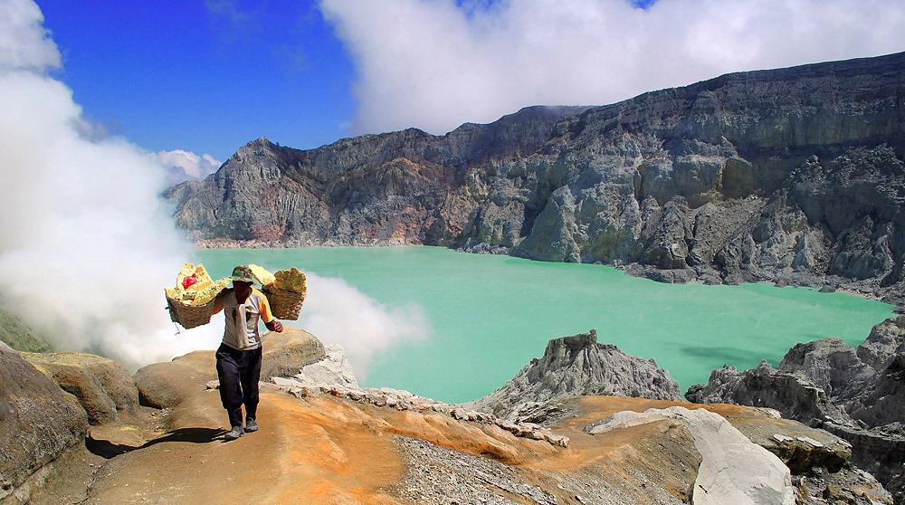 Vulkan See auf Java