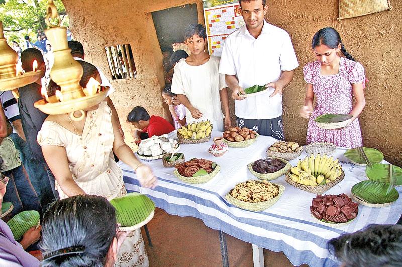 Gemeinsames Essen an Neujahr in Sri Lanka
