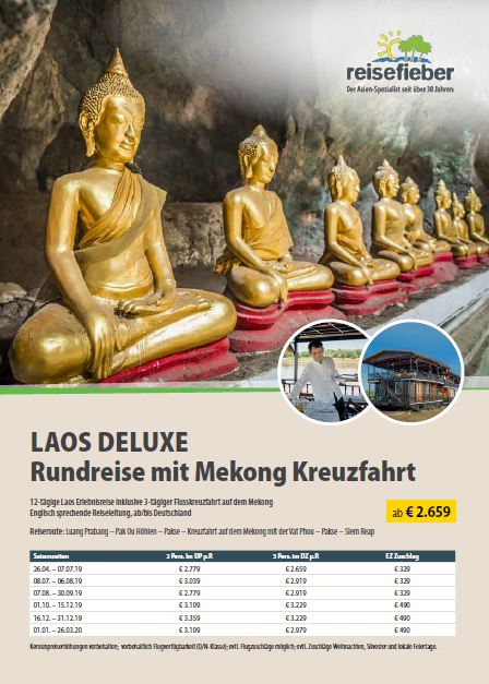 Entdecken Sie unsere Laos Reisen auf unserem Flyer