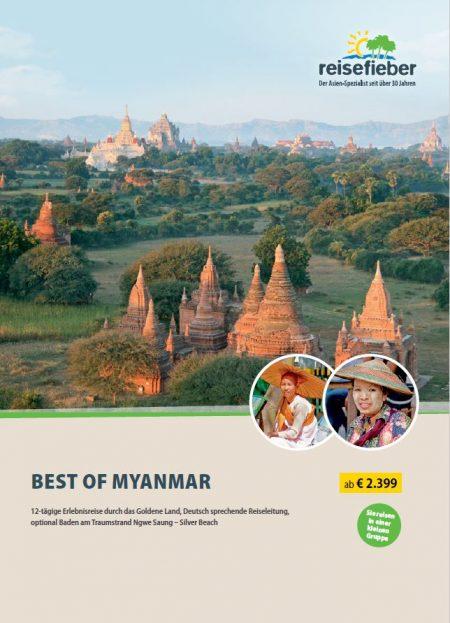 Myanmar Reisen auf unserem Flyer