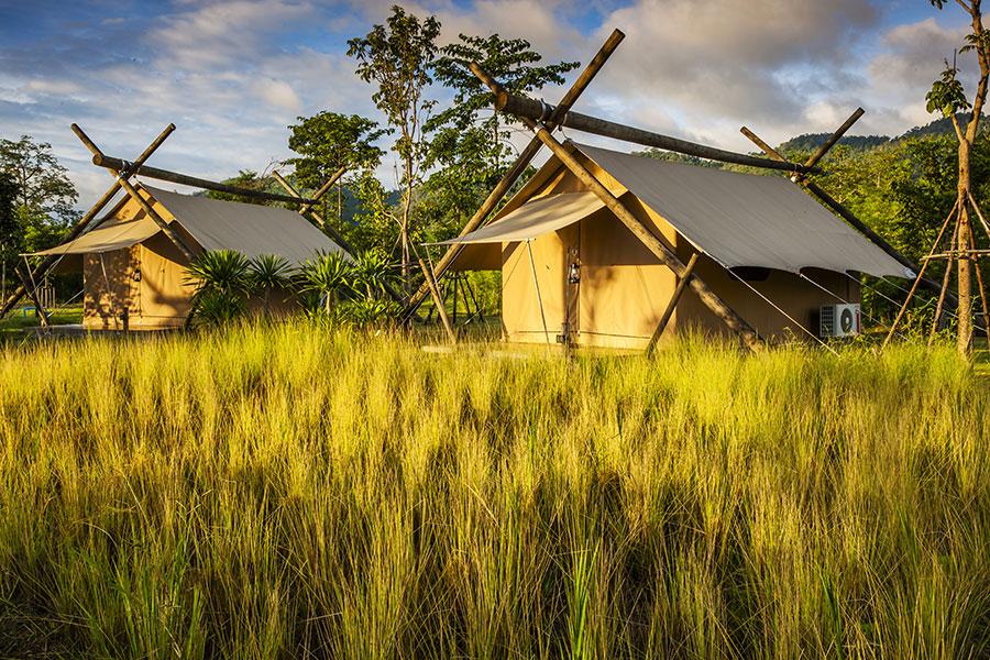 Zelte im Lala Mukha Tented Resort
