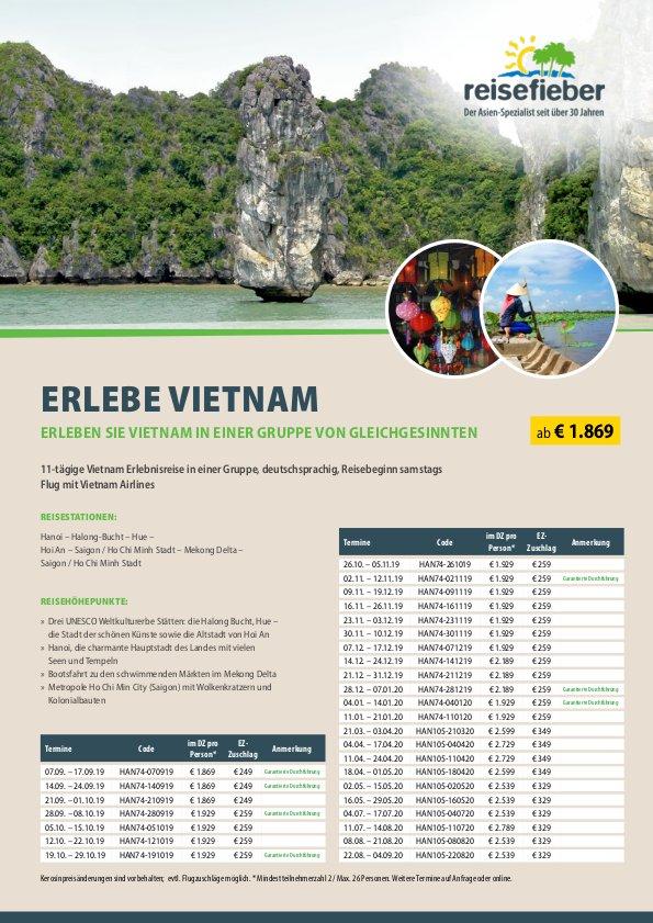 Erlebe Vietnam 2019/2020