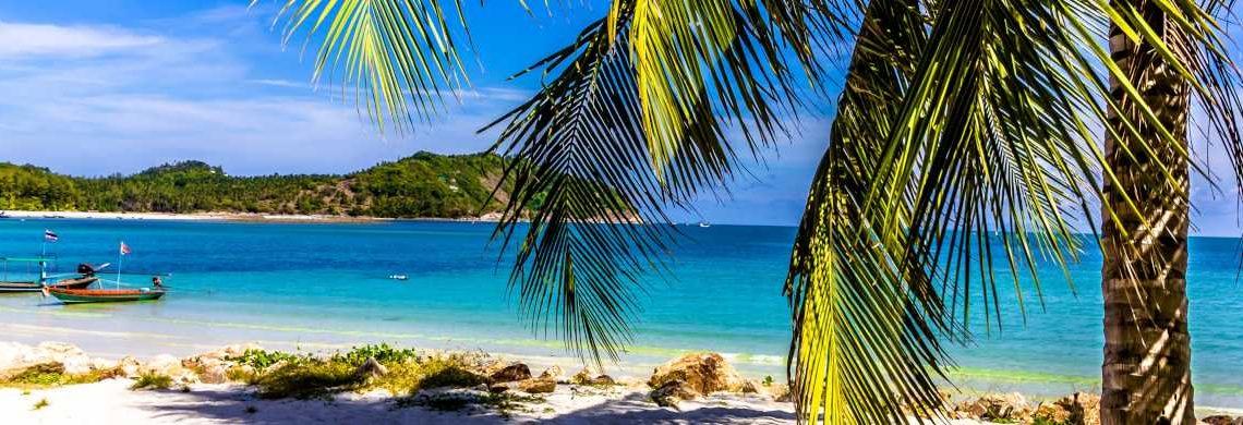 Palmenstrand in Thailand