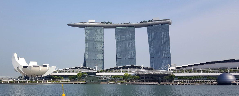 Das berühmte Marina Bay Sands Hotel