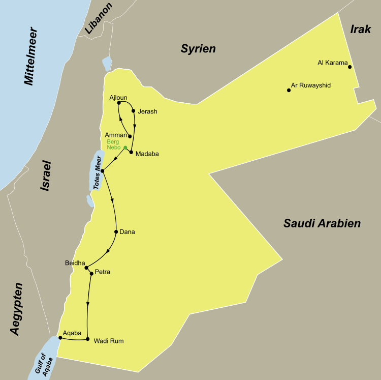 Jordanien Selbstfahrer Rundreise
